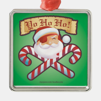 JollySanta Ornament-Square Metal Ornament