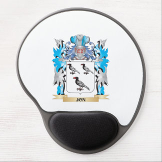 Jon Coat of Arms - Family Crest Gel Mouse Pad