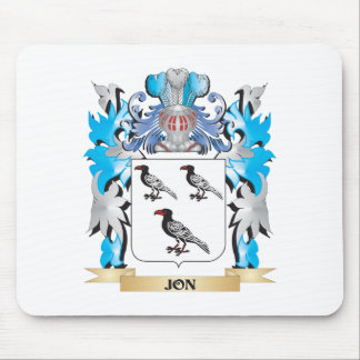 Jon Coat of Arms - Family Crest Mousepad