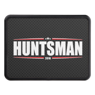 Jon Huntsman 2016 (Stars & Stripes - Black) Trailer Hitch Cover