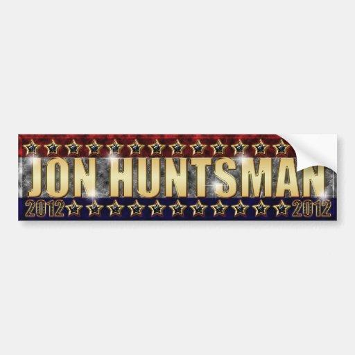 Jon Huntsman Stars and Stripes Bumper Sticker