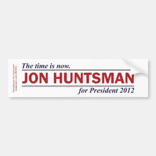 Jon Huntsman The Time is Now President 2012 Bumper Stickers