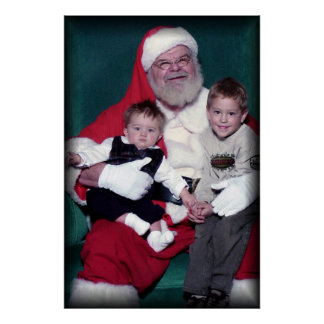 jon logan with santa poster