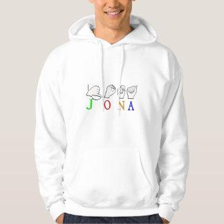 JONA ASL FINGERSPELLED NAME SIGN HOODIE