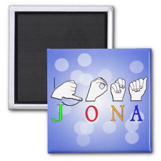 JONA ASL FINGERSPELLED NAME SIGN MAGNET