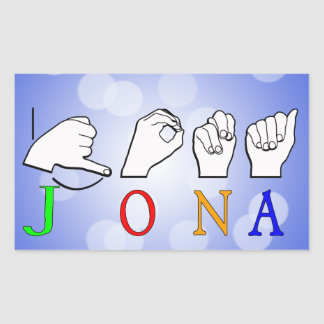 JONA ASL FINGERSPELLED NAME SIGN STICKER