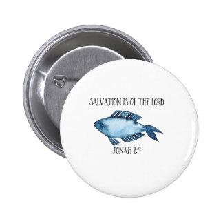 Jonah 2:9 2 inch round button