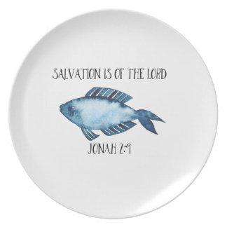 Jonah 2:9 dinner plate