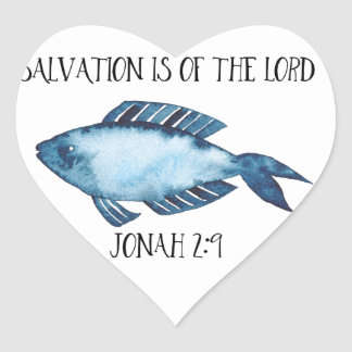 Jonah 2:9 heart sticker