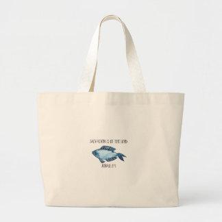 Jonah 2:9 large tote bag