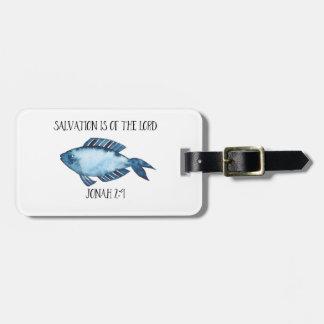 Jonah 2:9 luggage tag