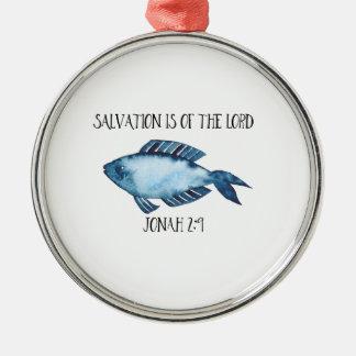 Jonah 2:9 metal ornament