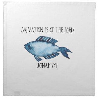 Jonah 2:9 napkin