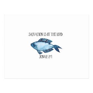 Jonah 2:9 postcard