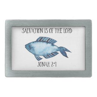 Jonah 2:9 rectangular belt buckle