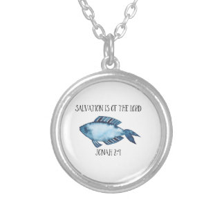 Jonah 2:9 silver plated necklace