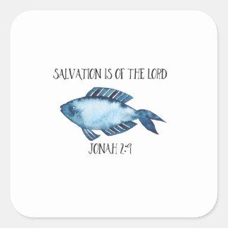 Jonah 2:9 square sticker