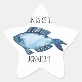 Jonah 2:9 star sticker
