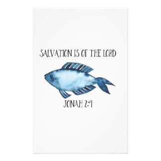 Jonah 2:9 stationery