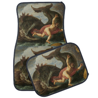 """Jonah and the Whale"" art floor mats"