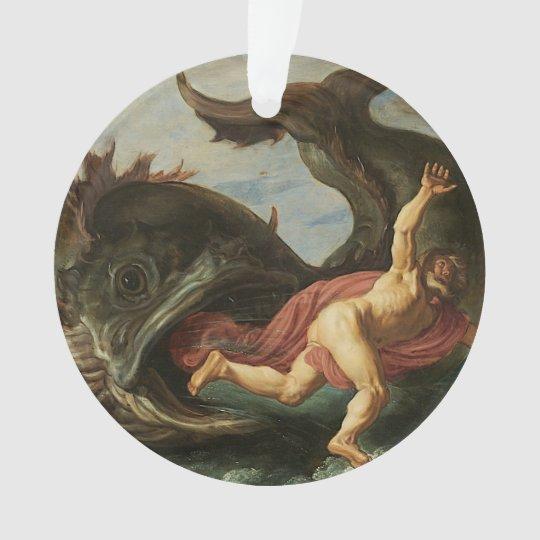 """Jonah and the Whale"" custom ornament"
