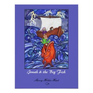 Jonah & the Big Fish Print