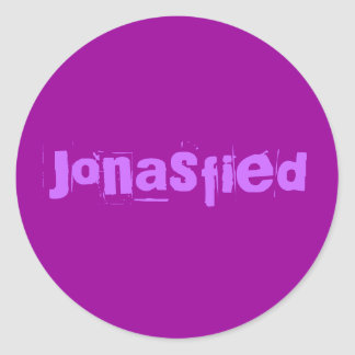 Jonasfied Classic Round Sticker