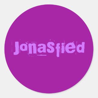 Jonasfied Round Sticker