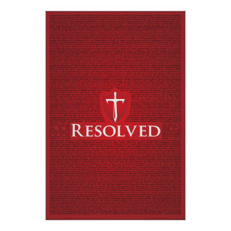Jonathan Edwards Resolution poster