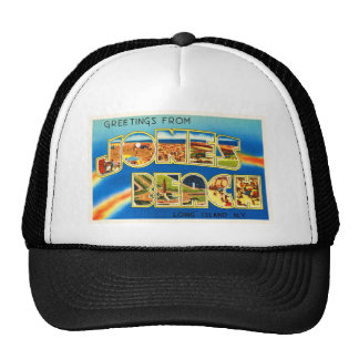 Jones Beach New York NY Vintage Travel Souvenir Trucker Hat