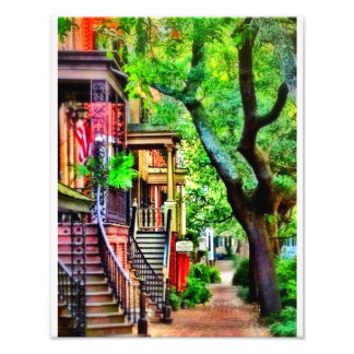 Jones Street, Savannah (OIL EFFECT) Photographic Print