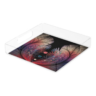 Jonglage Abstract Modern Fantasy Fractal Art Acrylic Tray