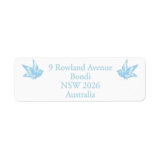 Joni Milne Design Return Address Label