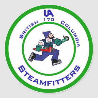 jonny-canuck-steamfitter classic round sticker