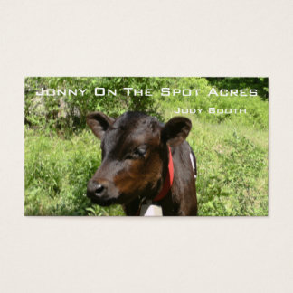 Jonny On The Spot Acres Business Card