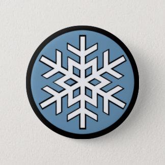 Jonny Snow Snowflake 2 Inch Round Button