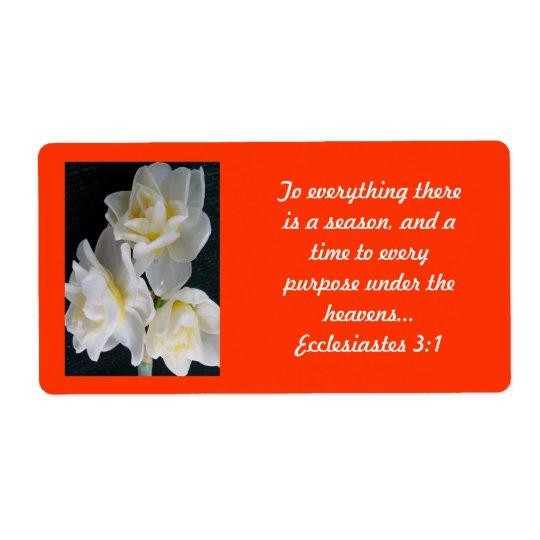 Jonquil Flower - Ecclesiastes 3:1