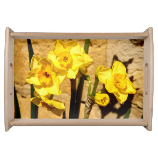 Jonquil Flowers Serving Tray