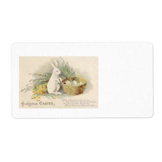 Jonquille Jonquil de panier d oeufs de lapin de Pâ Étiquettes D'expédition