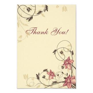 Jonquilles de Fuschia et Merci de blé Carton D'invitation 8,89 Cm X 12,70 Cm