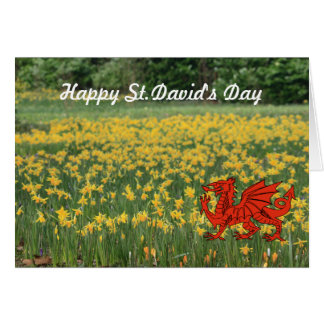 Jonquilles du jour de St David Carte De Vœux