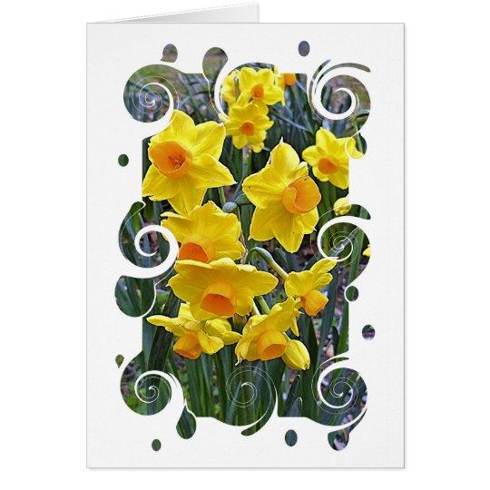 Jonquils Blank Greeting Card