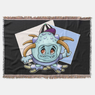 JONY PITTY ALIEN MONSTER CARTOON Throw Blanket