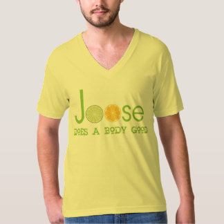 Joose Mens Top Does A Body Good Drink vneck