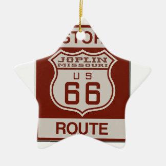 Joplin Route 66 Ceramic Ornament
