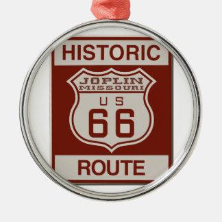 Joplin Route 66 Metal Ornament