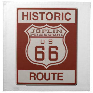 Joplin Route 66 Napkin