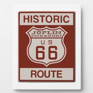 Joplin Route 66 Plaque