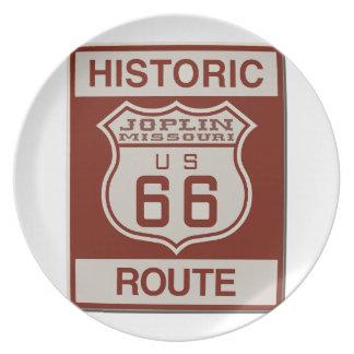 Joplin Route 66 Plate