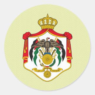 Jordan Coat of Arms detail Classic Round Sticker